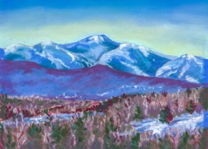 Belle McDougall, Mt Mansfield View from Waterbury Center