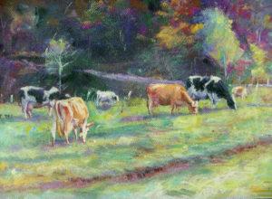 Cath Stockbridge, Cows In Back Field